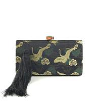 chinesische polyester-troddel großhandel-2019 neuen chinesischen stil stickerei quaste abend abendessen tasche dame kleid handtasche schulter cheongsam tasche