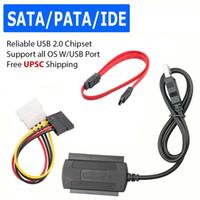 hd sata 2,5 toptan satış-USB 2.0 IDE SATA S-ATA 2.5 3.5 HD HDD Sabit Disk Adaptörü Dönüştürücü Kablosu