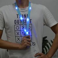 mehrfarbig geführtes keychain groihandel-Beleuchtung Lanyards LED buntes Nylon Lanyards für Word-Karte Keychain Telefon Aussen Sicherheit Warnung Straps-Partei-Dekoration 7 Farbe K778