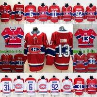 preis jeans groihandel-Montreal Kanadier Max Domi Carey Preis Andrew Shaw Jonathan Drouin Brendan Gallagher Shea Weber Jean Beliveau Damen-Jugendhockeytrikots