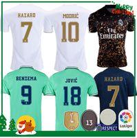 camisetas deportivas de futbol al por mayor-19 20 Real madrid fútbol Jersey Benzema JOVIC MILITAO Modric Ramos Bale PELIGRO 2019 2020 adulto hombre mujer niños deportes Fútbol camiseta