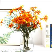Wholesale marigold flower for sale - Group buy Artificial Flowers Fake Flowers Heads Gerbera Daisy Flowers Marigold Bouquet for Home Garden Office Wedding Decor