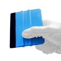 vinil móvel venda por atacado-2 em 1 ferramentas de embrulhar em película de vinil carro Auto 3 m rodo com feltro macio raspador de papel de parede protetor de tela móvel instalar ferramenta rodo