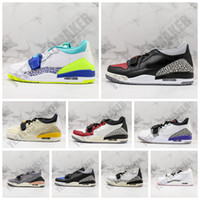 Wholesale silver legacy for sale - Group buy 2020 OG Jumpman Legacy NRG Pure white Ice Blue Trainer low Basketball shoes for High quality s Men Retro Athletic Sneakers