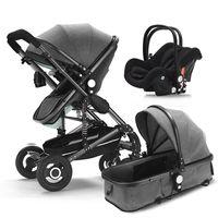 Baby stroller 3 in 1 neonatal baby carriage high landscape pram four seasons stroller absorption cart