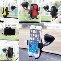 pára-brisas livre venda por atacado-Universal 360 ° titular do telefone celular Painel do carro Pára-brisas de montagem para GPS PDA Celular DHL frete grátis
