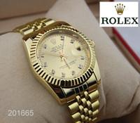 bracelet en diamant couleur achat en gros de-2019 Nouvel homme femme montre en acier inoxydable Casual montre-bracelet en acier montres à quartz couleur horloge mâle marque montre diamant rol.ex New12