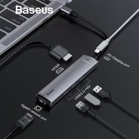 Wholesale Baseus in1 HUB Adapter USB Type C to USB HDMI RJ45 for MacBook Pro HUB Splitter for Huawei Matebook Computer Accessory