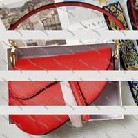 Wholesale fashion handbag designer black resale online - 2019 famous designer womens handbag new letter shoulder bag high quality genuine leather Messenger bag luxury saddle bag
