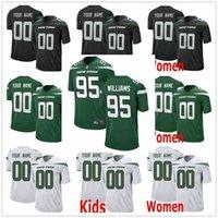 Wholesale kids new york jerseys resale online - Custom New York Quinnen Williams Jachai Polite Chuma Edoga Trevon Wesco Quincy Enunwa Men Women Kids Youth Jets Stitched Jerseys