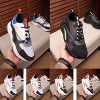 sapatos da marca francesa venda por atacado-Novos sapatos de lona e couro de bezerro dos homens de alta qualidade B22 moda feminina sapatos de marca francesa de grife sapatos casuais 36-46