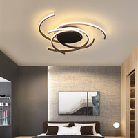 Wholesale black white paintings for living room resale online - Modern LED Ceiling Lights Aluminum Ceiling Chandeliers Lighting for Living room Bedroom Children baby room plafond avize