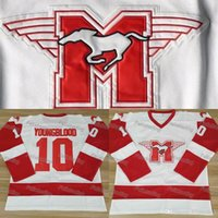 Wholesale Youngblood Rob Lowe MUSTANGS Hockey Jersey Movie Hockey Jerseys Men All Stitched Movie Jersey