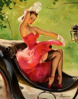 Wholesale pin ups girls resale online - Gil Elvgren Pin Up Girls Home Decor Handcrafts HD Print Oil Painting On Canvas Wall Art Canvas Pictures