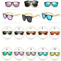 Wholesale wood legs sunglasses resale online - 2019 Summer Retro Vintage Bamboo Sunglasses Wood Legs Mirror Eyewear Sun Glasses Women Men Teenages Beach Ouutdoor Sports Glasses A41906