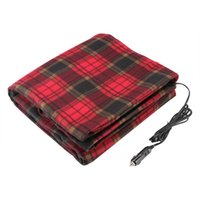 Wholesale 12 electric car resale online - Electric Car Automobiles Seat Covers Heated Mat Blanket Heated Volt Fleece Travel Throw For RV Great Car Accessories