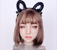 Wholesale doll mask cosplay for sale - Group buy EYUNG new Emily Doll silicone female mask Suitable for crossdresser Pseudo street drag queen shemale cosplay mouth Openable
