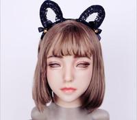 замаскированная кукла косплей оптовых-EYUNG 2018 new Emily Doll silicone female mask Suitable for crossdresser Pseudo street drag queen shemale cosplay mouth Openable
