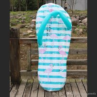 inflables de agua grandes al por mayor-Patrón flamenco piscina flotadores para la natación del verano creativo inflable flotante Zapatilla impermeable Fila Amplio Agua monta Gran área 37xy X