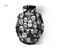 crânio hoodies homens venda por atacado-Outono Designer Hoodies Para Homens Camisolas 3D Crânios Padrão Amantes Dos Homens Casacos Com Capuz Capuz Ogreish Vestuário Tops S-5XL Atacado