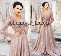 62a2406ded Wholesale chiffon abaya dubai for sale - Group buy Vintage Pearl Pink Kaftan  Prom Formal Dresses