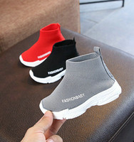 ingrosso scarpe a maglia del ragazzo-Designer Ragazzi Ragazze Primavera Casual Shoes High Top maglia scarpe a maglia Toddler Baby bambini Sport traspirante in esecuzione a piedi Outdoor Sneakers