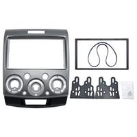 mazda kit autos großhandel-2DIN graues Auto, das Stereo-DVD-Rahmen-Binde-Armaturenbrett-Installations-Ausrüstungen für Ford Everest / Förster / Mazda BT-50 # 1677 umbaut