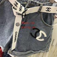 short jeans оптовых-Женские короткие шорты в стиле европейского стиля Slim Denim Джинсы повседневные Женские леди Letter Letter Шорты повседневные