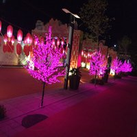 Wholesale light cherry color resale online - 1 M ft height LED Cherry Blossom Tree Outdoor use Wedding fairy Garden Holiday Light Decor LEDs color in stock