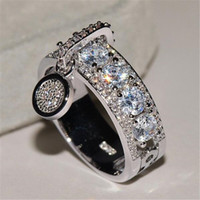Wholesale brand lovely jewelry resale online - Tide Brand Women Personality Rings Fashion Designer Crystal Bling Girls Lovely Ring Party Wedding Luxury Lady Rings Jewelry