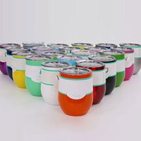 Wholesale 12oz Stainless Steel Egg Cups Mug Wine Glasses Mugs Tumblers Wine Tumblers Water Bottle With Clear Lids DHL Shipping