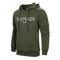 schwarze hoodie-marke großhandel-2019 Markendesigner Balmain Männer Frauen Sweatshirt Jacken Kleidung Schwarz Weiß Rosa EURO Size Hoodies BALMAIN