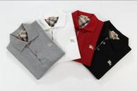 leopardt-shirt großhandel-2019Polo RL T-Shirt Großhandel Freies Verschiffen Neue Marke Polo Kragen Sommer Casual Herren Polos Kurzarm Polos T-Shirt 100% Baumwolle Größe 6670