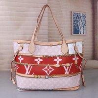 фирменные сумочки для ремня оптовых-Совершенно новый список Плечо перекинуло L andV NEVERFULL старая цветочная сумка для покупок Детский пакет гриль сумка + кошелек M40156