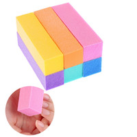Wholesale nail art buffers for sale - Group buy Colorful Nail Art File Buffers Sanding Block Buffering Polish Manicure Tool Kit Polish Sandpaper File Brush Nails Accessories HHA168