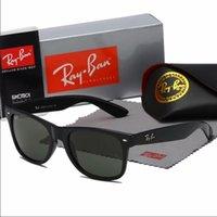 17 originalverpackung großhandel-2140 marke ray sonnenbrille vintage pilot wayfarer sonnenbrille uv400 bans herren frauen männer frauen ben glass bain linsen mit original box 17