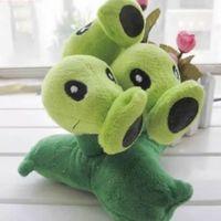 ingrosso bambole giocattolo zombie-Plants vs Zombies 2 Plush Toy - Bambola ripieno Tri-Peashooter 17cm / 6.7inch