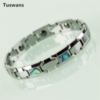Wholesale bracelet tungsten for sale - Group buy Gorgeous mm Wide Inlay Rectangle see Shell Men Tungsten Carbide Bracelets Bangles Charm Male Health Bracelet Jewelry Gift