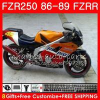 Wholesale repsol silver for sale - Body Repsol orange hot For YAMAHA FZR250R FZRR FZR R FZR250 HM FZR250RR FZR FZR Fairing kit