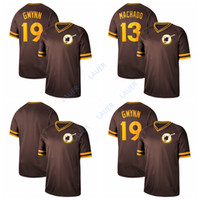 ingrosso maglia di machado-2019 Jersey di San Diego Baseball Padres 13 Manny Machado 19 Tony Gwynn Cooperstown Collection Legend Fade Jersey