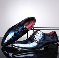 символьная обувь оптовых-Hot Sale- toes Mens big size shoes leisure low dress shoes fashion flats flower pattern character shoe zy868