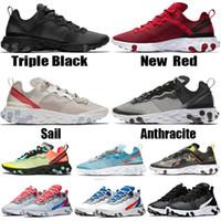 sapatos de desporto para designer feminino venda por atacado-nike react element 55 87 Undercover X Próximas mens de luxo designer de esportes das mulheres da marca azul Da Marca de Moda Sneakers calçados esportivos