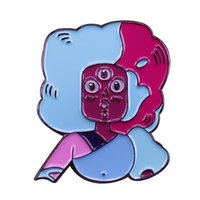 Wholesale show pins for sale - Group buy Steven universe pin crystal gems leader Garnet badge cute cartoon hit show brooch art accessory