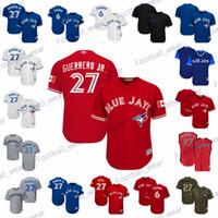 Wholesale blank green baseball jersey resale online - Mens Women Youth Blue Jays Jersey Vladimir Guerrero Jr Jersey White Red Home Road Green Salute to Service Blank Baseball Jerseys