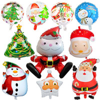 Wholesale aluminum christmas trees for sale - Group buy Balloon New Style Creative Idea Airballoon Aluminum Film Sphere Christmas Decorate Santa Claus Tree Snowman Penguin ws p1