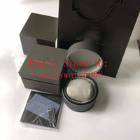 Wholesale round wood jewelry box resale online - Top Of The Best Quality Top Brand TAG Watch Box Luxury Watch Boxs Casual Fashion Leather Watch Boxes Watches Jewelry Box Gift Box