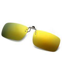 Wholesale clip night vision goggle for sale - Group buy Eyeglasses Frame Sunglasses Clip Lens Men Women Coating Myopia Clip Sun Glasses Night Vision Driving Glass