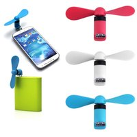 drop-schiff gadgets großhandel-Gadget Mini USB Fan Gadgets Lüfter Micro USB Windkühlung für Telefon Desktop Laptop Promotion Drop Shipping