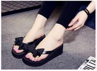 ingrosso tacchi spessi coreani-Ciabatte da passeggio estive coreane per donna con infradito, suole spesse, tacchi alti e sandali da donna