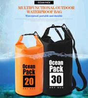 Wholesale dry bag for canoe resale online - Waterproof Dry Bag Backpack River Trekking Bags Waterproof Dry Storage Sack Bag For Canoe Kayak Rafting Boating Floating Outdoor Sports